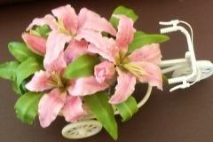 Thai clay flower making-