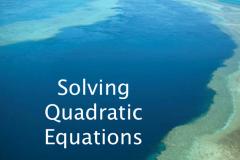 Become a master of Quadratic equation.