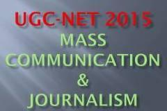 Join UGC-NET 2015 for MASS COMMUNICATION