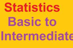Statistics - Basic to Intermediate