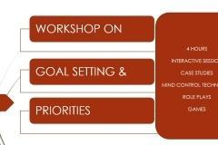 Goal setting and priorities