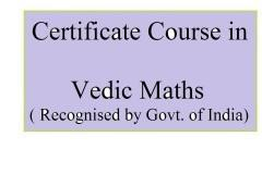Certificate Course in Vedic Maths