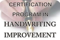 Handwriting Improvement Certification Program
