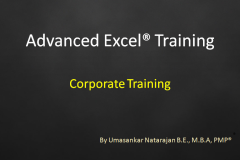 Corporate Training - Advanced Excel
