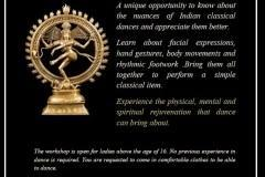 Introductory workshop on Indian Classical Dances