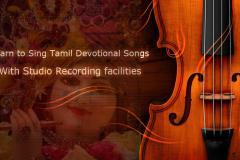 Learn to Sing Tamil Devotional Songs with Studio recording facilities
