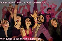 Learn to Sing Tamil,Malayalam & Hindi Karaoke Songs with Studio Recording facilities
