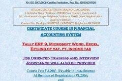 Tally ERP9, Job Oriented Training