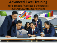 Advanced Excel Training for B-Schools and Management colleges
