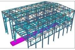 Complete indutrial Shed design using staad pro