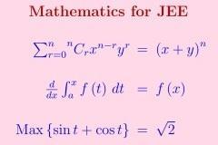 Mathematics: JEE Main and Advanced
