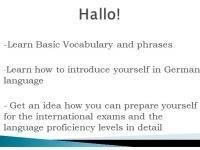 Hallo! Learn Basic German here