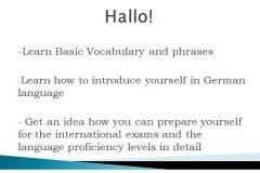 Hallo! Learn Basic German here