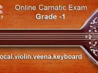 Grade 1 -Online Carnatic Grade Exam(Vocal,Violin,Veena,Flute,Keyboard)