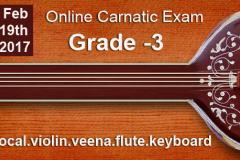Grade 3 -Online Carnatic Grade Exam(Vocal,Violin,Veena,Flute,Keyboard)