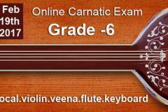 Grade 6 -Online Carnatic Grade Exam(Vocal,Violin,Veena,Flute,Keyboard)
