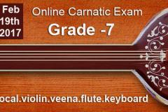 Grade 7 -Online Carnatic Grade Exam(Vocal,Violin,Veena,Flute,Keyboard)