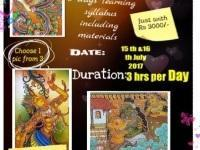 Kerala Mural Work shop @ JINGLE ARTS CHROMEPET