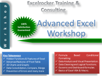 Advanced Excel Training for working professionals on weekends