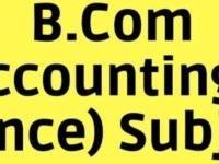 B.com first year FINANCE ACCOUNT
