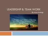 Leadership & Team Work