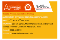 Automation Anywhere Essentials Certification in Mumbai