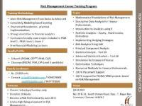 RISK MANAGEMENT AND FINANCIAL ANALYTICS (Career Training Program)
