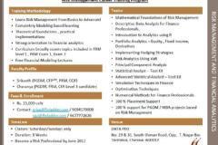RISK MANAGEMENT AND FINANCIAL ANALYTICS (Career Training Program)