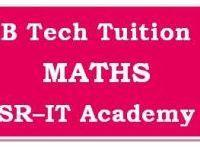 B.Tech Maths Tuition -- M-1, M-2, M-3, M-4 and P&S