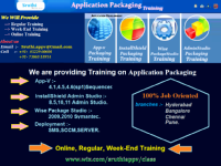 Msi  Application packaging And Virtualization Courses Training in Hyderabad.
