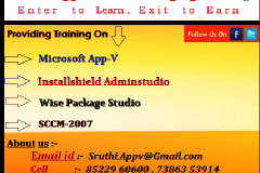 Application packaging And Virtualization Courses Training in Hyderabad.
