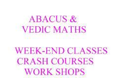 Abacus and Vedic Maths Training  in All Levels to Schools ,Teachers and House Wives