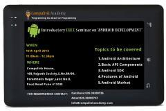 Free Seminar On Android Application Developments