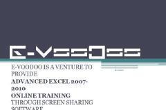ADVANCED EXCEL through E- VooDoo