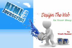 Learn Web designing with HTML,JavaScript and CSS