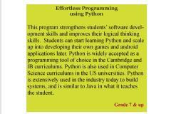 Effortless Programming with Python