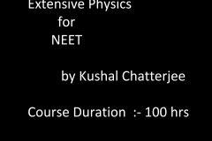 Extensive physics for NEET