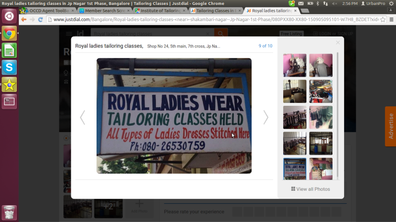 Royal ladies tailoring classes in J P Nagar, Bangalore