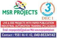 Plc Training Msr Projects PLC Automation institute in Hyderabad