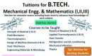 Mechanical Engineering Classes photo