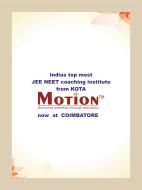 Motion Engineering Entrance institute in Coimbatore
