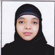 Fatima J. BSc Tuition trainer in Hyderabad