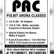 Pulkit Arora Classes Class 12 Tuition institute in Faridabad