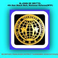 M.john De Britto Taekwondojohn Self Defence institute in Chennai