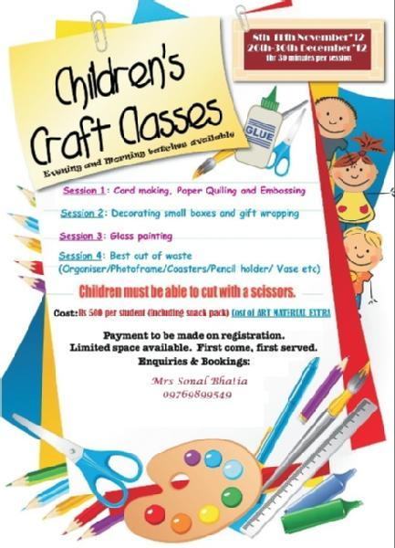 Craft Courses Children Poster