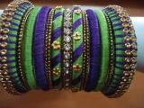 Superb Colour Combo Silk Thread Bangles