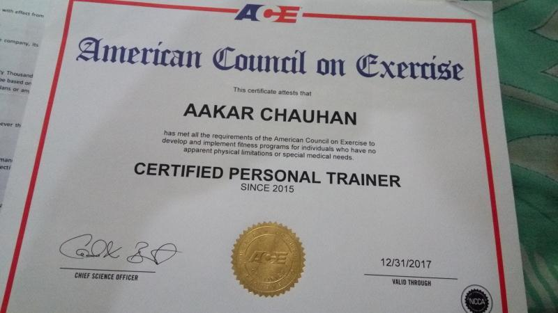 Aakaar Chauhan Personal Trainer In Industrial Area Chandigarh For