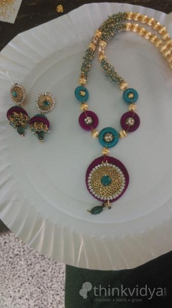 Advanced Silk Thread Jewellery Making Classes Coimbatore
