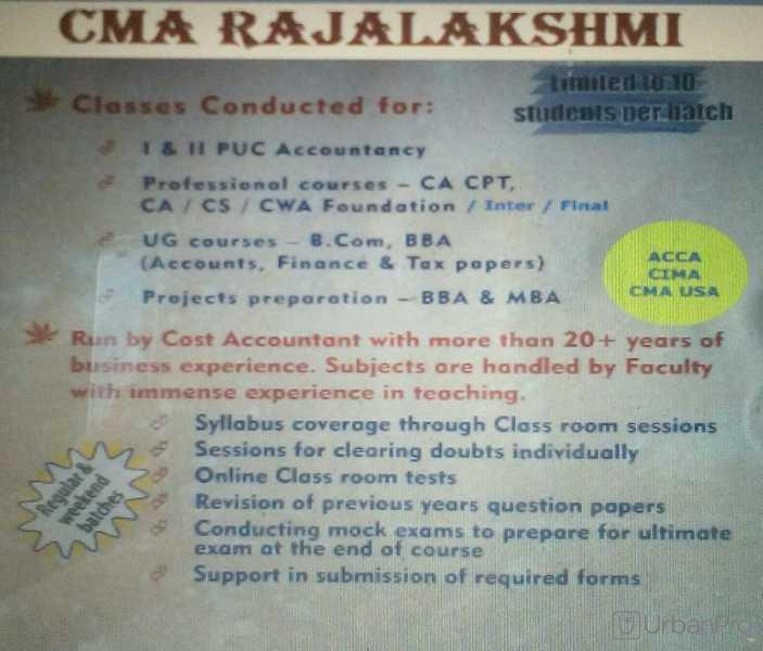 Rajalakshmi S - Trainer in Ramamurthy Nagar, Bangalore