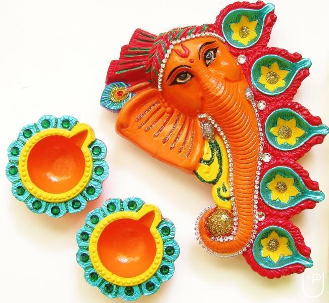 Shobha m trainer teacher in hal 2nd stage bangalore for Art and craft diya decoration